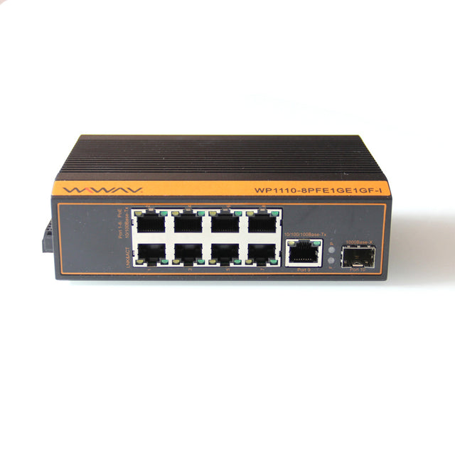 WP1110-8PFE1GE1GF-I PoE 10/100/1000Mbps 10 Port Industrial Ethernet Switches