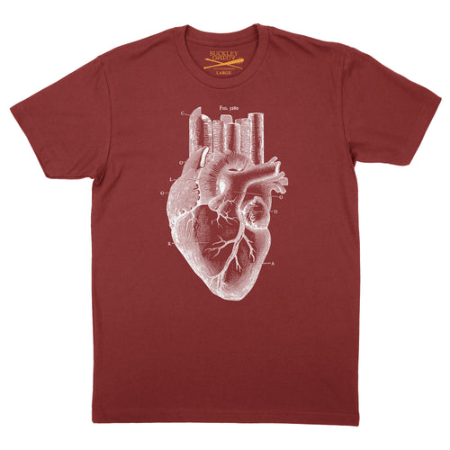 Men's Heart of the City- Red T-shirt