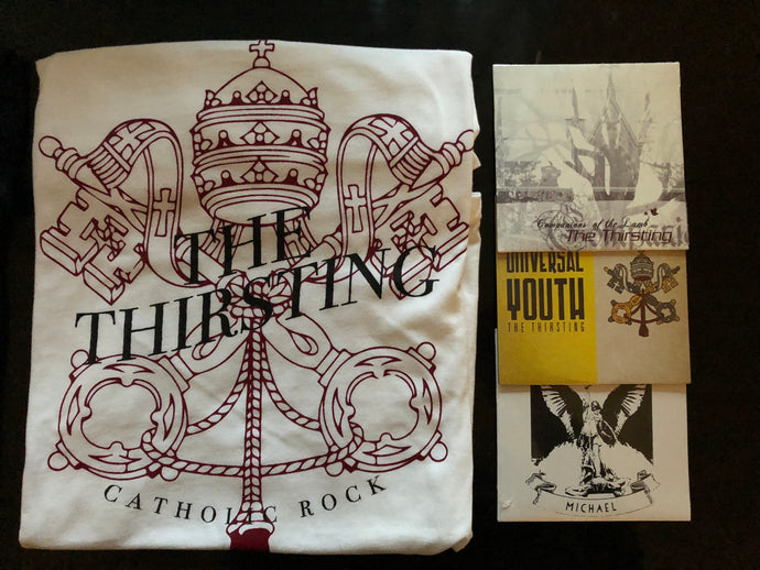 Super Catholic Rock Fan Bundle - Thirsting Keys T-Shirt
