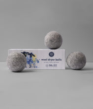 Load image into Gallery viewer, Grey Wool Dryer Balls Set of 3