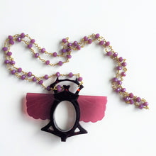Load image into Gallery viewer, Beetle necklace with a magnifying glass - Lovinglam