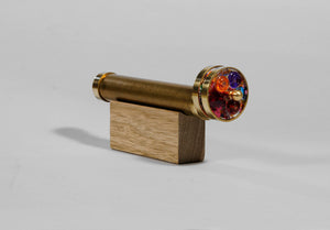 Short Small Wheels Kaleidoscope, Brass Kaleidoscope, Gift for boss , Personalized gift