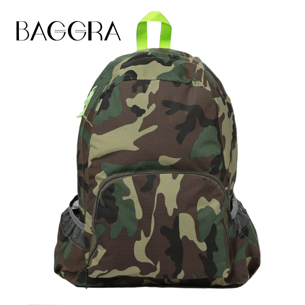 Backpack w/Camouflage Print for School or Travel - Rodeo.Driving