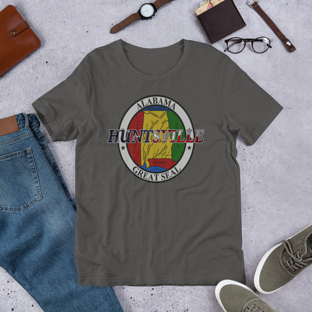 Huntsville AL Great Seal Short-Sleeve Unisex T-Shirt