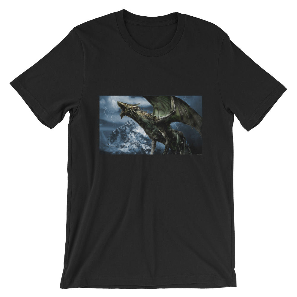 Short-Sleeve Unisex T-Shirt Dragon on a Mountain