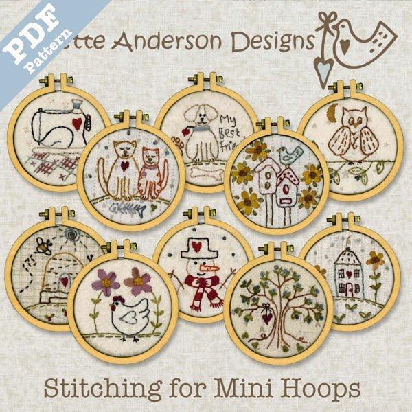 Stitching for Mini Hoops - Downloadable Pattern