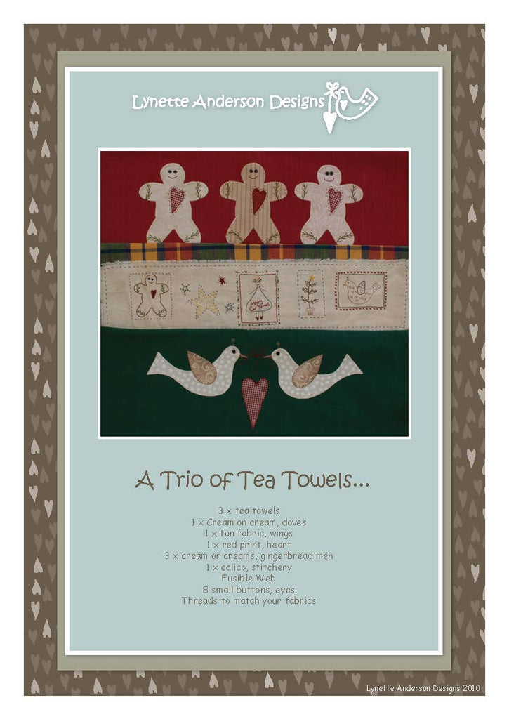 A Trio of Tea Towels - Downloadable pattern