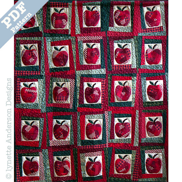 Crazy Apple Quilt - downloadable pattern