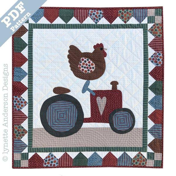 Tractor Race - downloadable pattern