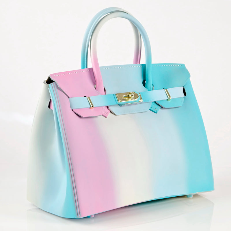 Cotton Candy Padlock Flap Splash Bag