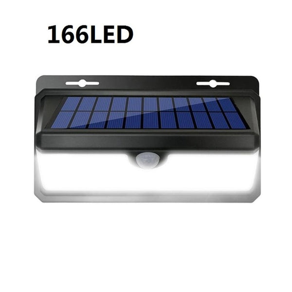 Solar Light Flame Light Waterproof PIR Motion Sensor Solar Light 100/166 LED Outdoor Yard Garden Decoration Wall Lamp