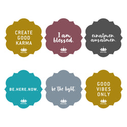 Yogamatten-Sticker SET