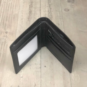 Mens Black Leather RFID Card Blocking Wallet fathers day for him gifts