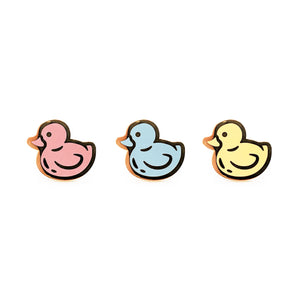 Rubber Ducky Hard Enamel Pin Set