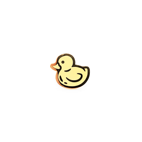 Pastel Yellow Rubber Ducky Hard Enamel Pin