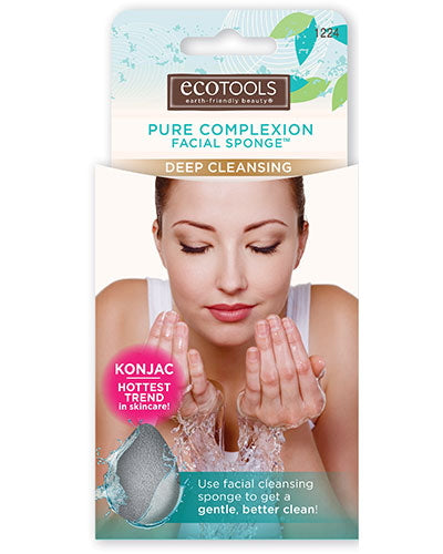 EcoTools Pure Complexion Facial Sponge - Deep Cleansing - Charcoal