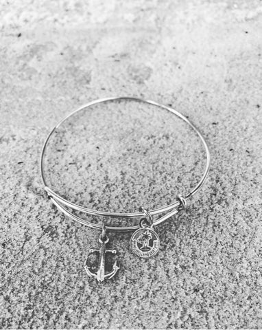 Anchor Bracelet - Silver Metal