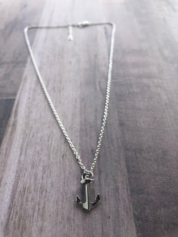 Anchor Necklace (No Beaches and Nature pendant)