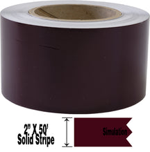 "2"" x 50' Two Inch Roll of Solid Premium Accent Stripe in many colors"