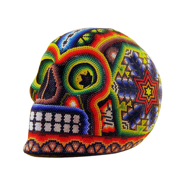 Calavera Huichol Beaded Skulls Colour