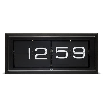 Leff Brick Clock Black