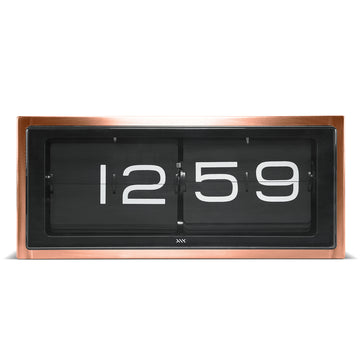 Leff Brick Clock Copper