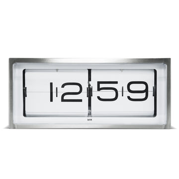 Leff Brick Clock Steel