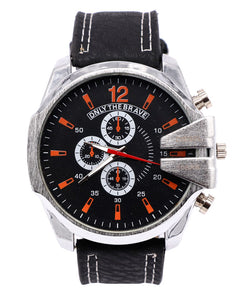 Silver and black stylish Men's Watch