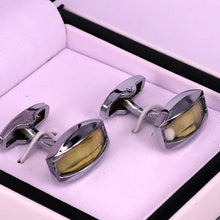 Load image into Gallery viewer, Silver crystal stone men cufflinks