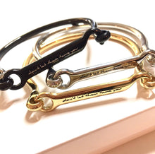 "Load image into Gallery viewer, ""Don't Let Them Tame You"" Lusitano Bangle"