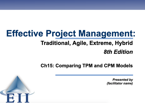 EPM8e Slides Ch15 Comparing TPM and CPM Models