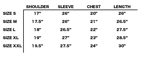 FW19 STONE ISLAND - GARMENT DYED HOODED SWEAT SIZE CHART
