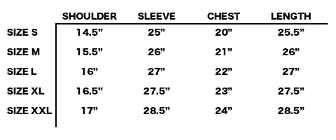 FW19 STONE ISLAND - MILITARY SWEATER SIZE CHART