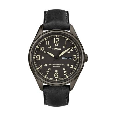 Waterbury Traditional Day Date 42mm - Black Leather