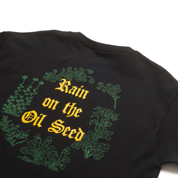 Rain On The Oil Seed SS Tee - Black