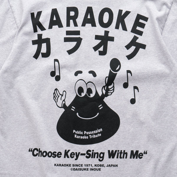 Karaoke Button T-Shirt - Grey