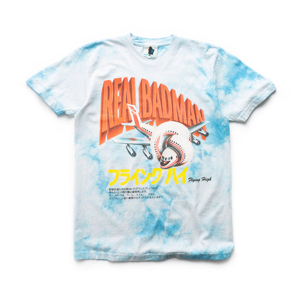 Flying High Tee - Sky Tie Dye