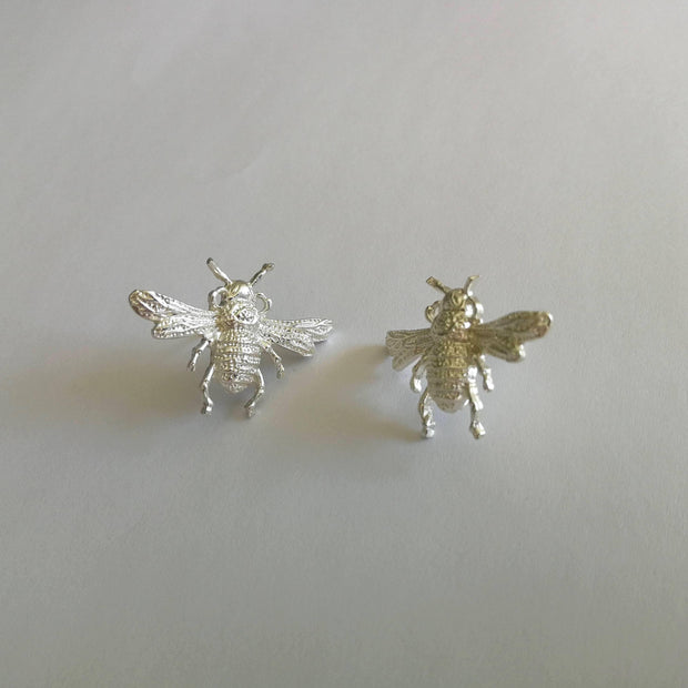 Bees Knees Earrings Silver