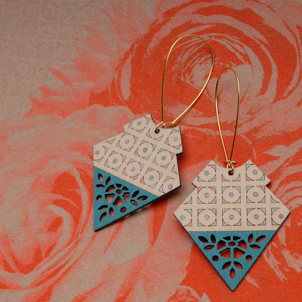 Kesara Earrings Turquoise