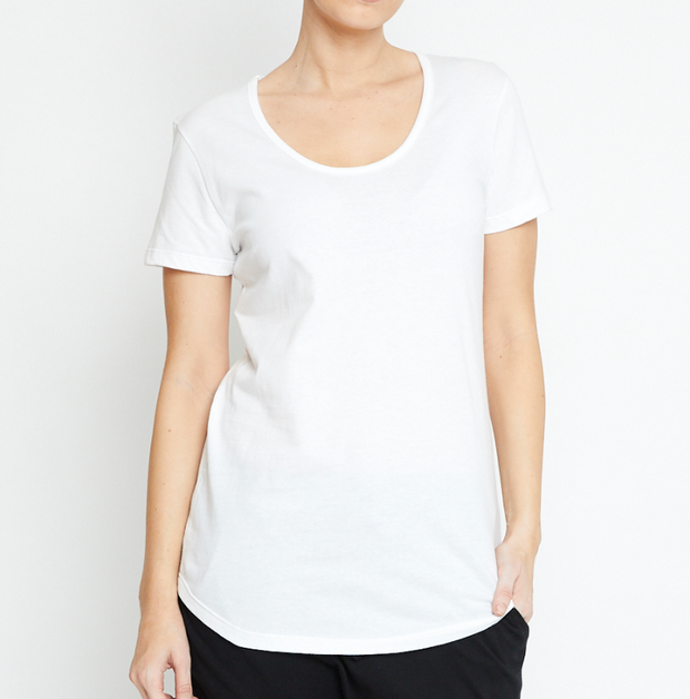 Basic Tee, Organic Cotton White
