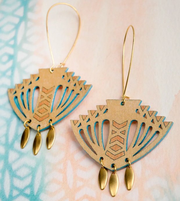 Samara Earrings Gold/Turquoise
