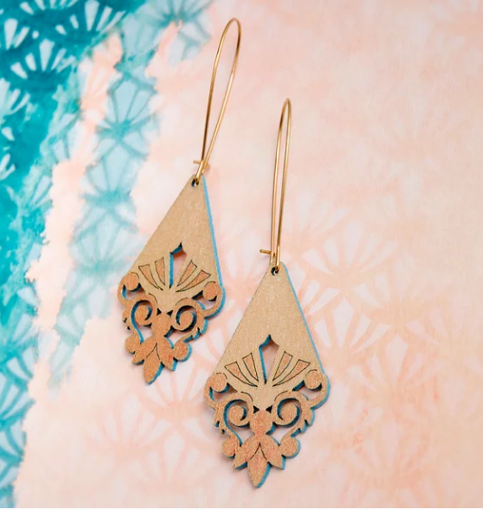 Briony Earrings Gold/Turquoise