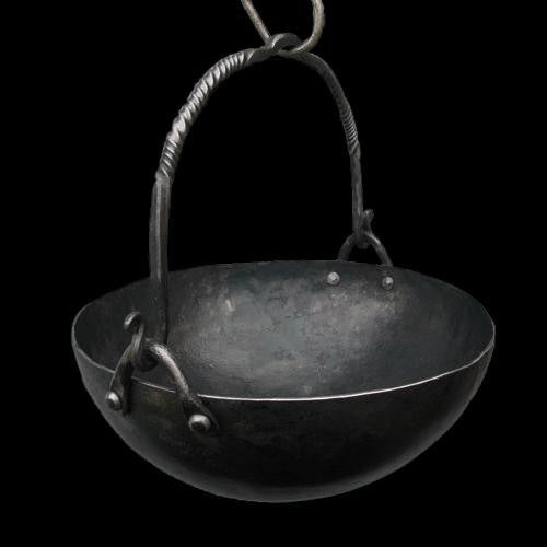 Small Hand-Forged Iron Cauldron - Hand-Forged Cauldrons / Cooking Pots