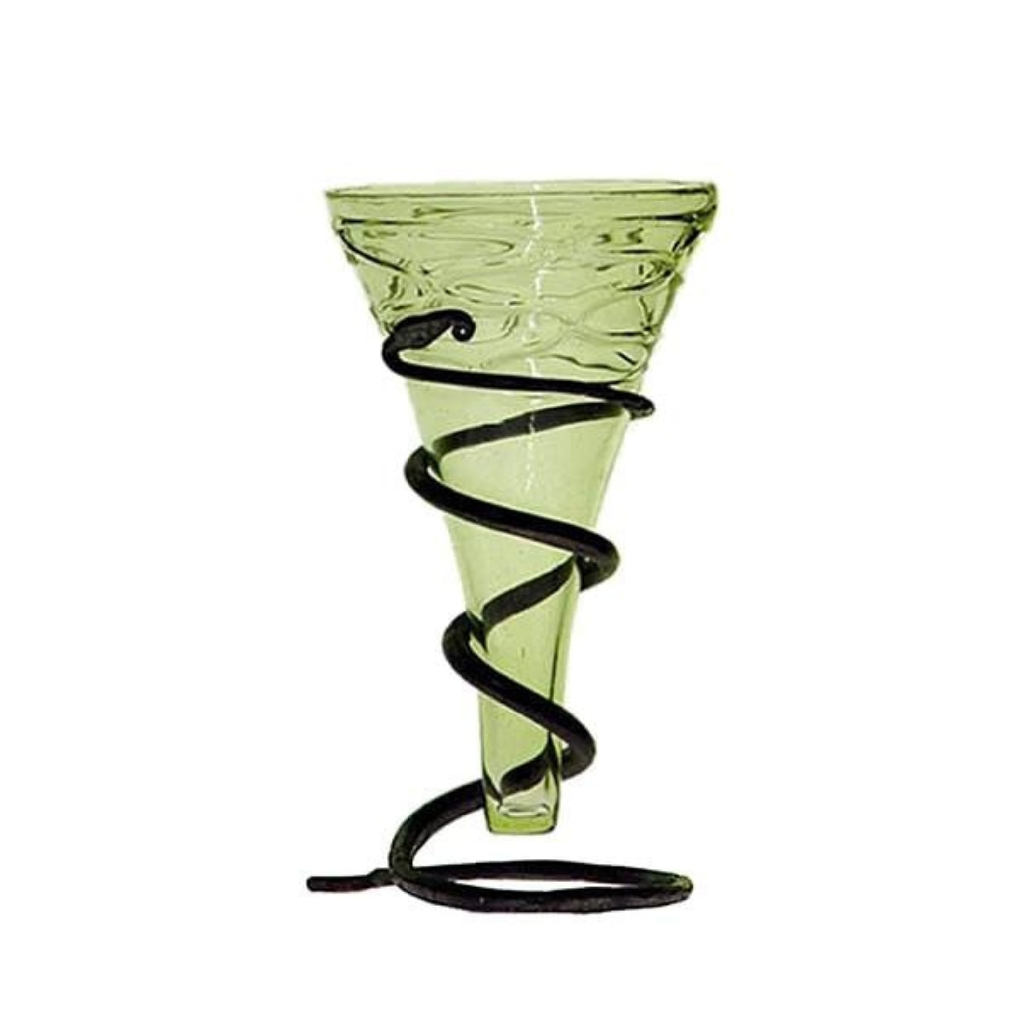 Decorated Glass Viking Cone Beaker With Stand - Viking & Medieval Glasses