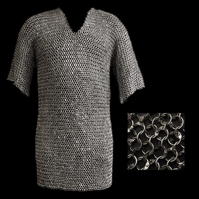 Riveted Steel Chainmail Shirt - Viking Armor