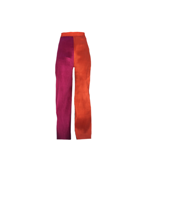 COLOR BLOCK WIDE LEG TROUSER