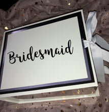 Load image into Gallery viewer, White/Silver Gift Box With Ribbon - Personalised