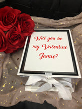Load image into Gallery viewer, Valentines Gift Box With Ribbon - Personalised
