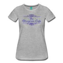 Load image into Gallery viewer, Women's The Bluegrass Cafe (swirl) T-Shirt - heather gray