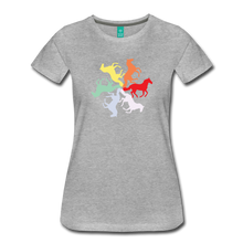 Load image into Gallery viewer, Women's Rainbow Horse Circle T-Shirt - heather gray